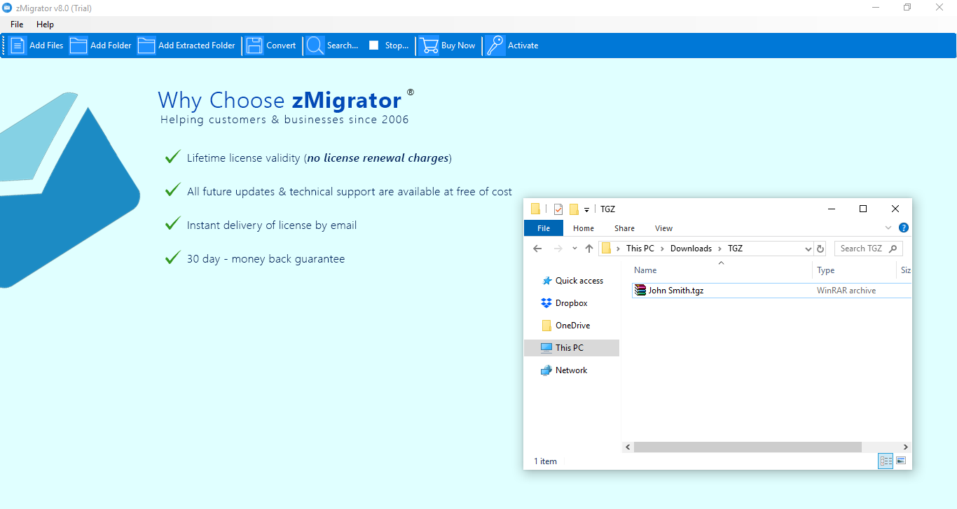 launch zimbra migration wizard